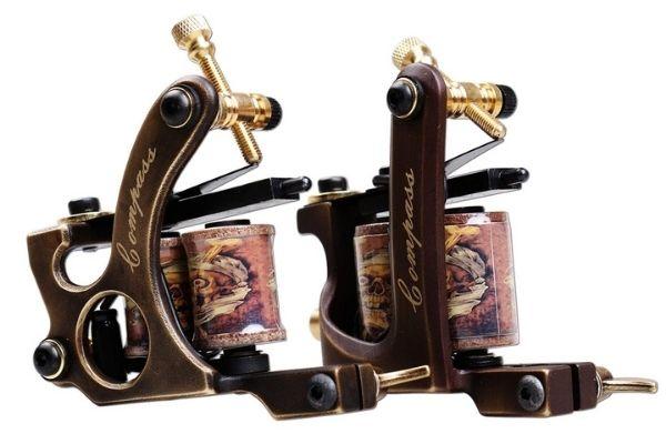 Dragonhawk brass coil tattoo machine
